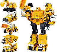 economico -1:10 Lega di metallo Camion Gru Ruspa Piste da corsa Trasformazione giocattolo per auto trasformabile Simulazione Interazione tra genitori e figli Da ragazzo Adulto Giocattoli per auto