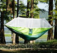 abordables -Hamac de camping avec moustiquaire Extérieur Portable Respirable Anti-Moustique Ultra léger (UL) Résistance à l'usure Nylon Parachute avec mousquetons et sangles pour 2 personne Chasse Pêche Cyclisme