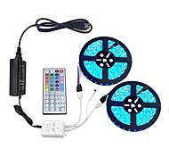 economico -2x5m Strisce luminose LED flessibili Set luci Strisce luminose RGB 600 LED SMD5050 10mm 1 telecomando da 44Keys 1 adattatore di alimentazione da 10A 1 set Multicolore Accorciabile Feste Decorativo