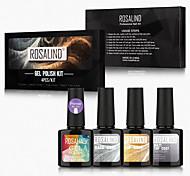 economico -4 pcs Kit per unghie Ecologico Alla moda Quotidiano Gel UV per Unghia della mano