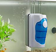 abordables -brosse magnétique aquarium réservoir de poissons verre algues grattoir nettoyant courbe flottante brosse magnétique fenêtre d'aquarium brosse magique