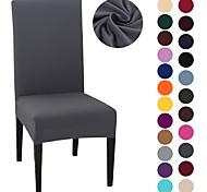 abordables -Housse de chaise Couleur Pleine Imprimé Polyester Literie