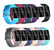 economico -Cinturino intelligente per Fitbit 1 pcs Cinturino sportivo Silicone Sostituzione Custodia con cinturino a strappo per Carica Fitbit3 Carica Fitbit 4