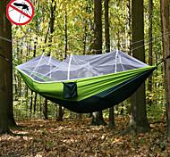 abordables -Hamac de camping avec moustiquaire Hamac double Extérieur Portable Respirable Séchage rapide Anti-Moustique Bonne ventilation Nylon Parachute avec mousquetons et sangles pour 2 personne Camping
