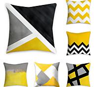 economico -set di 6 fodere per cuscini in poliestere, stampe grafiche con motivi geometrici semplici cuscini classici classici quadrati