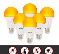 abordables -EXUP® 6pcs 6 W Ampoules Globe LED 500 lm E26 / E27 A60(A19) 14 Perles LED SMD 2835 Créatif Design nouveau Soirée Jaune 220-240 V