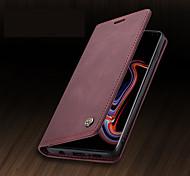 economico -telefono Custodia Per Samsung Galaxy Integrale Custodia in pelle Porta carte di credito S9 S9 Plus S8 Plus S8 S10 S10 + A portafoglio Porta-carte di credito Resistente agli urti Tinta unita pelle