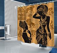 economico -tende da doccia tenda da doccia stampata in digitale con elementi di prateria africana di nuovo design