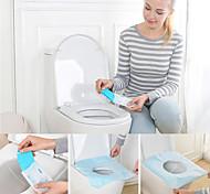 abordables -10 pcs jetable papier toilette hôtels universel toilettes autocollant housse de siège voyage d'affaires tabouret ensemble santé sécurité film protecteur