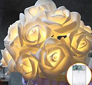 abordables -3m 30leds aa batterie LED rose lumières de noël vacances guirlande lumineuse Saint-Valentin décoration de mariage ampoules à fleurs lampe à LED