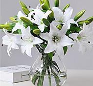 abordables -1 pcs lis artificiel fleur artificielle maison salon décoration affichage fleur