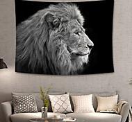 abordables -maison vivant animal tapisserie tenture murale tapisseries couverture murale art mural décoration murale lion noir tapisserie murale déco