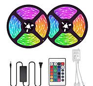 economico -2x5m Strisce luminose LED flessibili Set luci Strisce luminose RGB 600 LED SMD5050 10mm 1 telecomando da 24Keys 1 adattatore di alimentazione da 10A 1 set Multicolore Accorciabile Feste Decorativo
