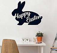 abordables -lapin de pâques animaux stickers muraux avion stickers muraux stickers muraux décoratifs, pvc décoration de la maison sticker mural décoration murale 1 pc 45.72 * 76 cm