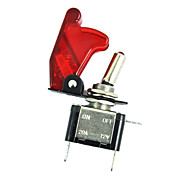 economico -12v 20a 20amp coperchio rosso led interruttore a levetta luce spst on / off vendite auto barca auto