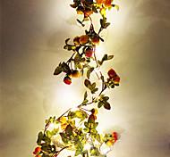abordables -2m Guirlandes Lumineuses 20 LED SMD 0603 1pc Blanc Chaud Noël Nouvel An Soirée Décorative Mariage Piles AA alimentées