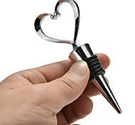 economico -2 pezzi strumenti da bar tappo di bottiglia di vino a forma di cuore tappo di bottiglia di vino rosso twist regali di favore di nozze