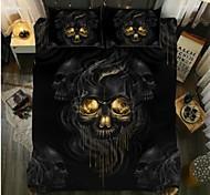 abordables -textiles de maison 3d ensemble de literie housse de couette avec taie d'oreiller 2/3 pcs chambre housse de couette ensembles literie crâne