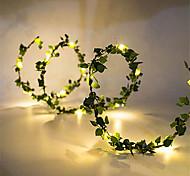 abordables -10m Guirlandes Lumineuses 100 LED 1pc Blanc Chaud jour de Pâques Noël Soirée Décorative Mariage Piles AA alimentées