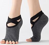abordables -Accessoires de Danse Sportif / Yoga Femme Coton Couleur Unie Loisir Chaussettes