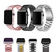 abordables -1 pièces Bracelet de Montre  pour Apple  iWatch Boucle Classique Bande d'affaires Acier Inoxydable Sangle de Poignet pour Apple Watch Series SE / 6/5/4/3/2/1