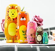 abordables -Poupée russe Thème classique En bois Tulle Dentelle Mignon Créatif Peint à la main Jouet fait main pour les cadeaux d'anniversaire de fille / Enfants