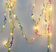 abordables -5m Guirlandes Lumineuses 50 LED Blanc Chaud La Saint-Valentin jour de Pâques Intérieur Soirée Décorative Piles AA alimentées