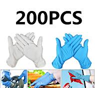 abordables -200pcs gants en latex jetables gants en caoutchouc gants de nettoyage gants de travail