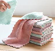 abordables -1ps chiffon épais absorbant pour le nettoyage de la serviette de table en microfibre essuyer les serviettes de maison en microfibre pour la cuisine
