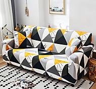 abordables -couverture de canapé élastique contraste nordique géométrique paquet complet unique double housse de canapé trois personnes
