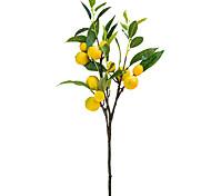 economico -1 pezzo artificiale limone ramo di frutta display soggiorno simulazione piante decor 20 * 60 cm