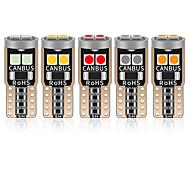 abordables -2 pcs T10 LED W5W LED Canbus Voiture Intérieur Lumière 194501 6 SMD 3030 LED Instrument Lumières Ampoule Wedge Light Aucune Erreur 12 V 6000 K