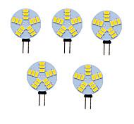 economico -5 pezzi 2 W Luci LED Bi-pin 350 lm G4 T 15 Perline LED SMD 5730 Bianco caldo Luce fredda