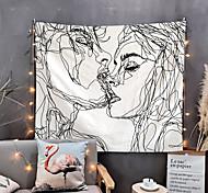 abordables -Saint Valentin croquis tapisserie murale art décor couverture rideau suspendu maison chambre salon décoration baiser amoureux