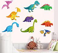 abordables -Stickers muraux dinosaure enfants chambre décor à la maison dinosaure vinyle enfants chambre décalcomanie bébé pépinière décor 60 * 82 cm