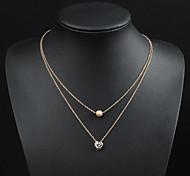 economico -Per uomo Per donna Collane con ciondolo Classico Fiore decorativo Di tendenza Cromo Oro 50 cm Collana Gioielli Per
