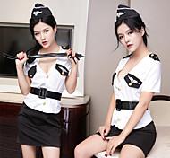 economico -Poliziotto / Poliziotta Uniformi Assistente di volo Per adulto Per donna Gonna Completi Per Terylene Mascherata Gonna Costumi Zentai