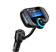 abordables -V4.2 Mains libres de voiture QC 3.0 / Lecteur de Carte / Modulateur FM MP3 de voiture Automatique