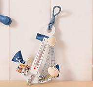 abordables -ancre en bois thermomètre artisanat art Tenture murale crochet mètre jauge coquille décor nautique vintage décoration de la maison cadeau créatif