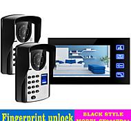 economico -videocitofono da 2 a 800 cm a mani libere da 7 pollici cablato da 800 * 480 pixel