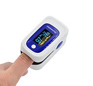 economico -fitfaith m160 pulsossimetro portatile da dito ossigeno nel sangue misuratore di saturazione della frequenza cardiaca display oled automaticamente standby sonno colore casuale spedito batterie aaa (non