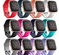 abordables -1 pièces Bracelet de Montre  pour Fitbit Boucle Moderne Silikon Sangle de Poignet pour Fitbi Versa Lite Fitbit Versa 2