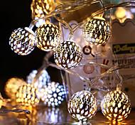 economico -aa batteria luci stringa led marocchino luci stringa giardino appeso lanterna fata luce esterna decorazione natalizia catena leggera