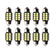 abordables -10pcs voiture led c5w led ampoule canbus 12v feston 31mm 36mm 39mm 41mm c5w c10w lampe de lecture éclairage intérieur de voiture 2835 smd blanc