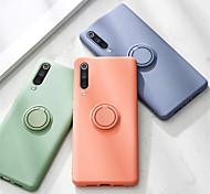 economico -telefono Custodia Per Xiaomi Per retro Silicone Custodia in silicone Xiaomi Mi 10 Xiaomi Mi 10Pro Supporto ad anello Tinta unica Silicone Metallo