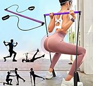 economico -Fascia di resistenza Pilates e barra tonificante Bastone per esercizi di Pilates Gli sport Lattice Nylon Schiuma Allenamento a casa Yoga Pilates Portatile Regolabili Rimovibile Costruzione muscolare