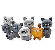 economico -6pcs adorabili gatti arrabbiati infelici action figure giocattolo decorazione della stanza giocattolo per bambini