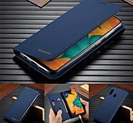 economico -telefono Custodia Per Samsung Galaxy Integrale Custodia in pelle Porta carte di credito A50 A20 A71 A portafoglio Porta-carte di credito Con supporto Tinta unita vera pelle TPU