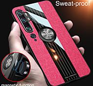 economico -telefono Custodia Per Xiaomi Per retro Xiaomi Mi 10 Xiaomi Mi 10Pro Xiaomi CC9 Pro Resistente agli urti Con supporto Supporto ad anello Tinta unita TPU Stoffa (cotone) PC
