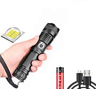 abordables -xhp50 Lampes Torches LED Imperméable 3000 lm LED LED 1 Émetteurs 5 Mode d'Eclairage avec Piles avec Câble USB Imperméable Professionnel Durable Terrifiant Camping / Randonnée / Spéléologie Usage